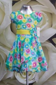 Платье детское 061/5 желтый с зеленым