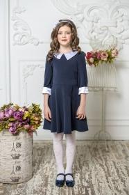 Школьное платье пл/017/1 синий