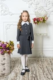 Школьное платье пл/018/2 серый