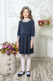 Школьное платье пл/022/1 синий