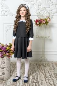 Школьное платье пл/016/4 черный