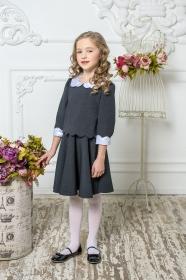 Школьное платье пл/016/4 графит