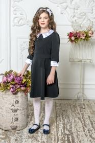 Школьное платье пл/017/2 черный