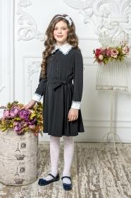Школьное платье пл/018/3 черный