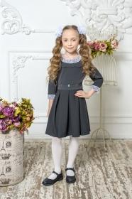 Школьное платье пл/022/3 серый