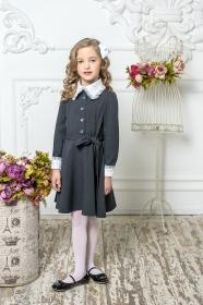 Школьное платье пл/018/4 графит