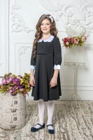 Школьное платье пл/019/2 черный