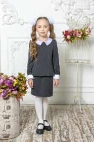 Школьное платье пл/023/3 серый