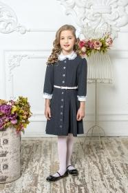 Школьное платье пл/020/4 графит
