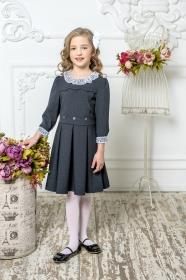 Школьное платье пл/022/4 графит