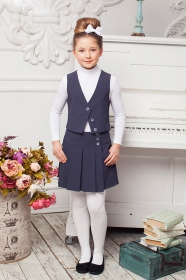 Комплект юбка + жилетка ЖЛ-001 ЮБ-021
