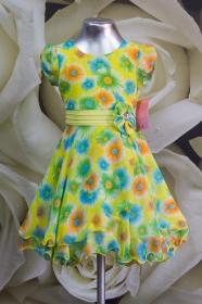 Платье детское 061/6 желтый с желтым