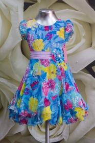 Платье детское 061/10 сирень + голубой
