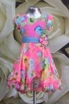 Платье детское 061/11 голубой + розовый