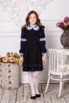 Школьное платье синее