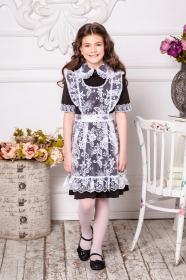 Школьное платье коричневое